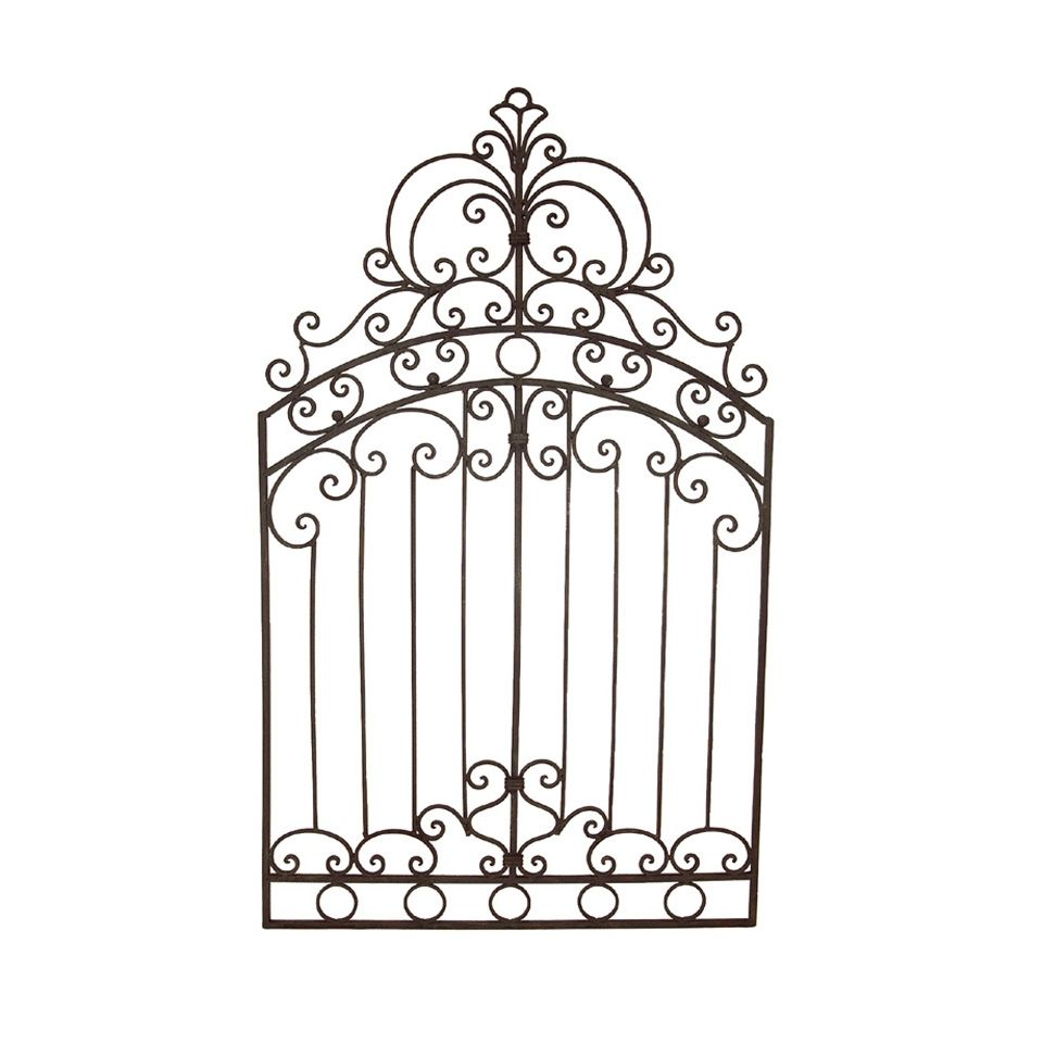 Tuscan wrought iron 50 garden gate wall grille grill garden metal gate wall art details about tuscan wrought iron 50 garden gate wall grille amipublicfo Gallery