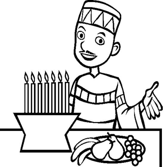 The Man Happy Kwanza Coloring Page | Coloring pages for ...