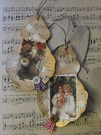 photos / art and music paper ornaments
