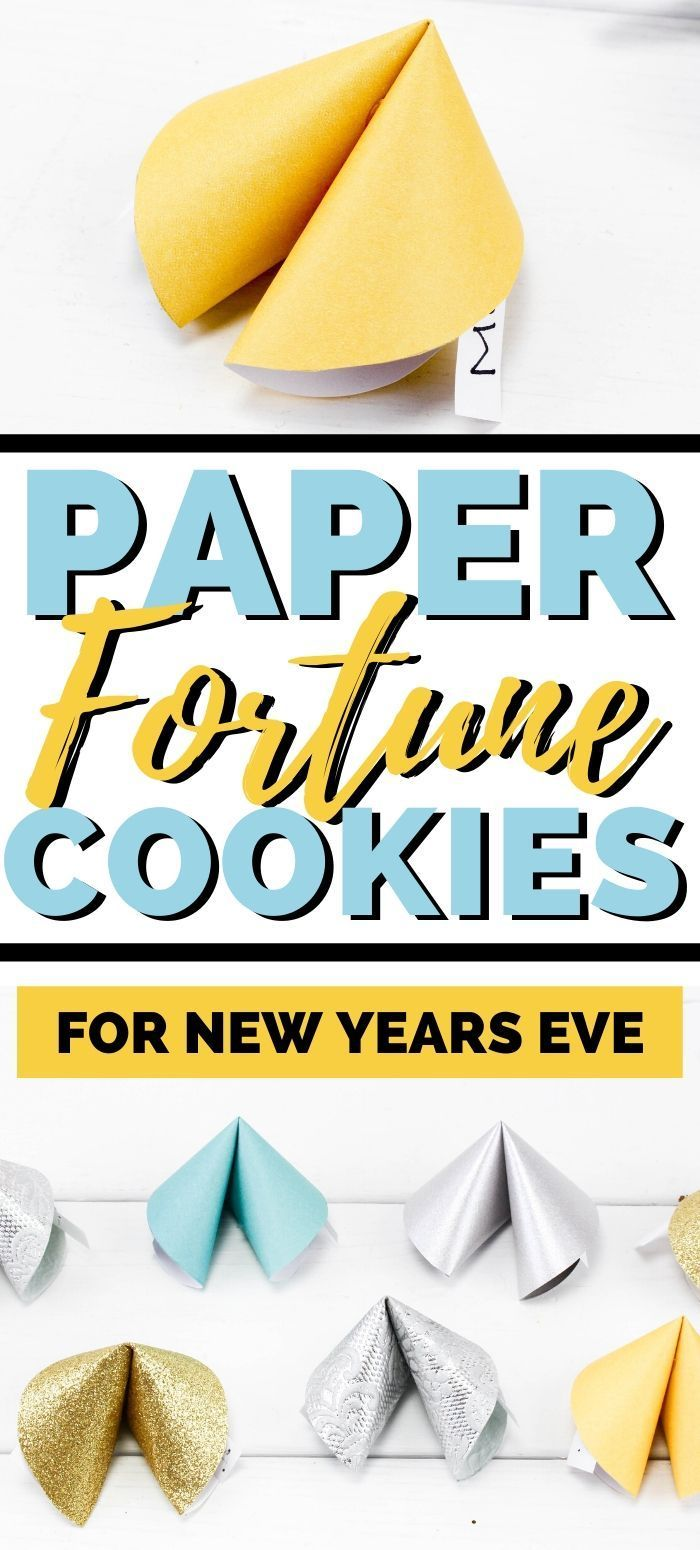 New Year's Eve Fun Paper Fortune Cookies Craft (With