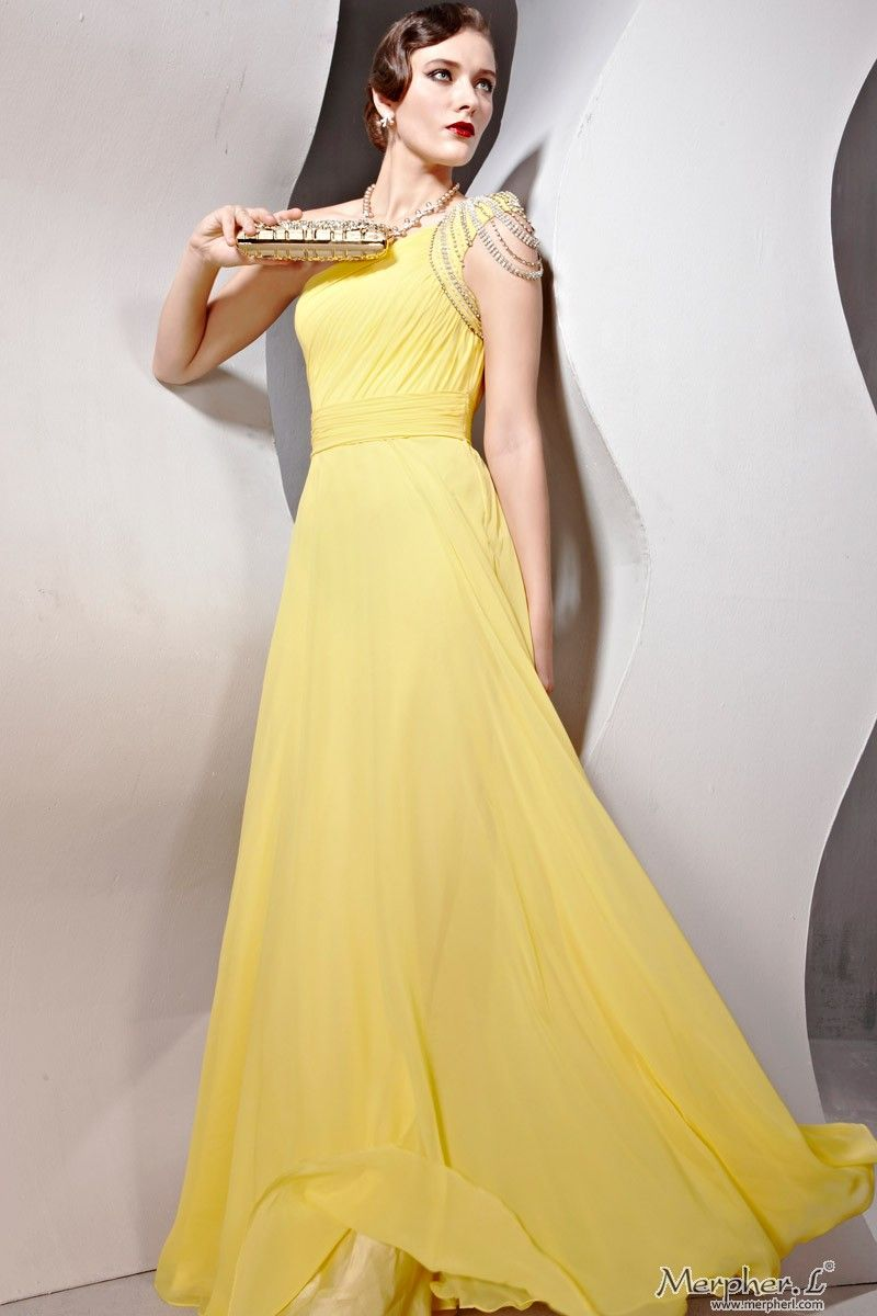 Images of Yellow Long Dress - Reikian