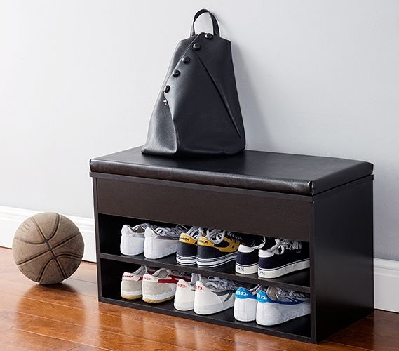 Yak About It The Shoe Rack Bench With Top Cushion