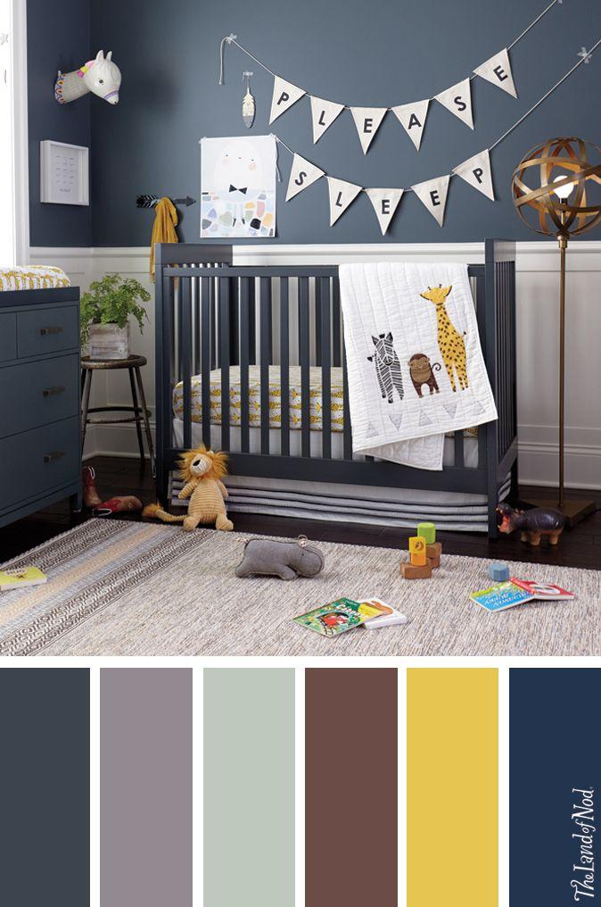 Create a boys nursery with safari-inspired bedding, decor and more - paredes con letras