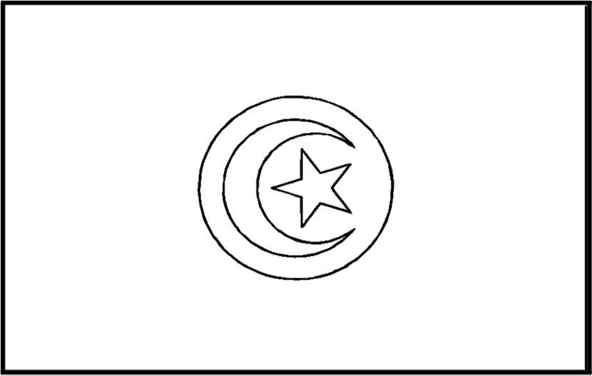 Tunisia Flag Coloring Page For Kids Flag Coloring Pages
