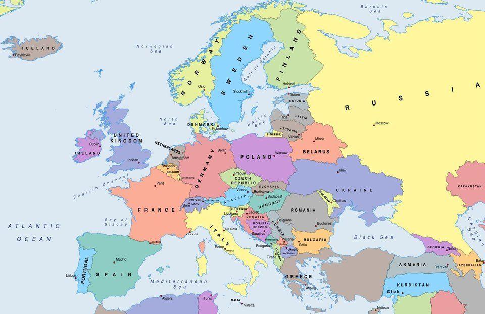 political map of europe 2019 Political map of europe 2019 : mapporncirclejerk | Europe map