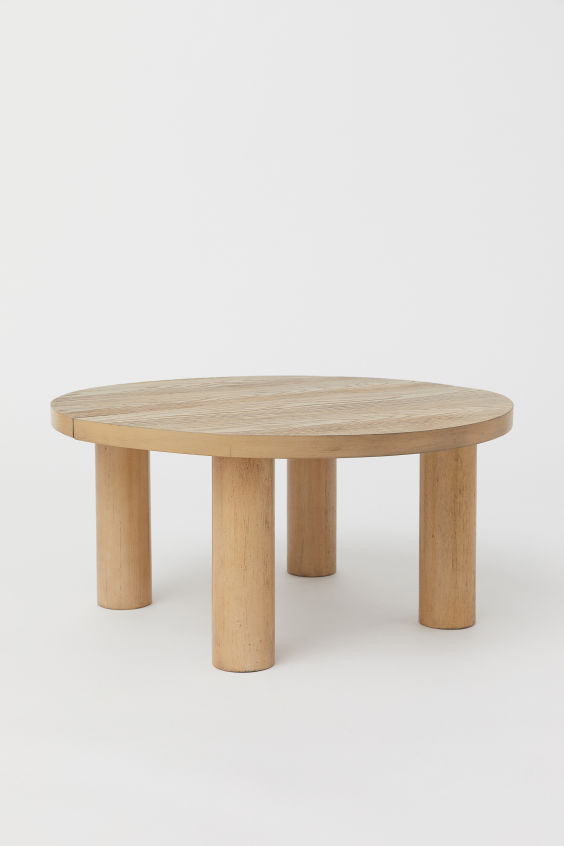 Round Coffee Table Beige Wood Home All H M Gb Table Basse Ronde Mobilier De Salon Table Basse