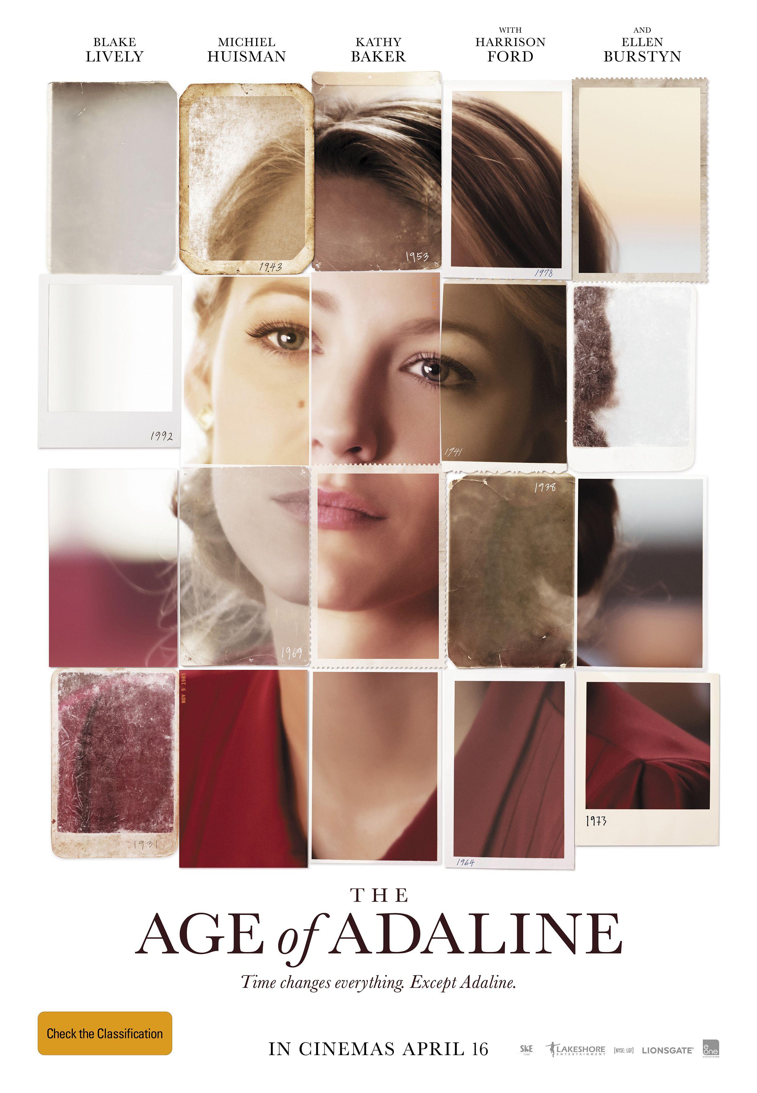 The Age Of Adaline 2015 A Incrivel Historia De Adaline Idade