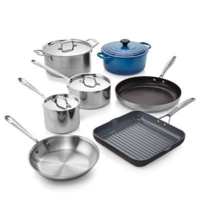 All Clad Stainless Steel 7 Piece Cookware Set 100 Exclusive