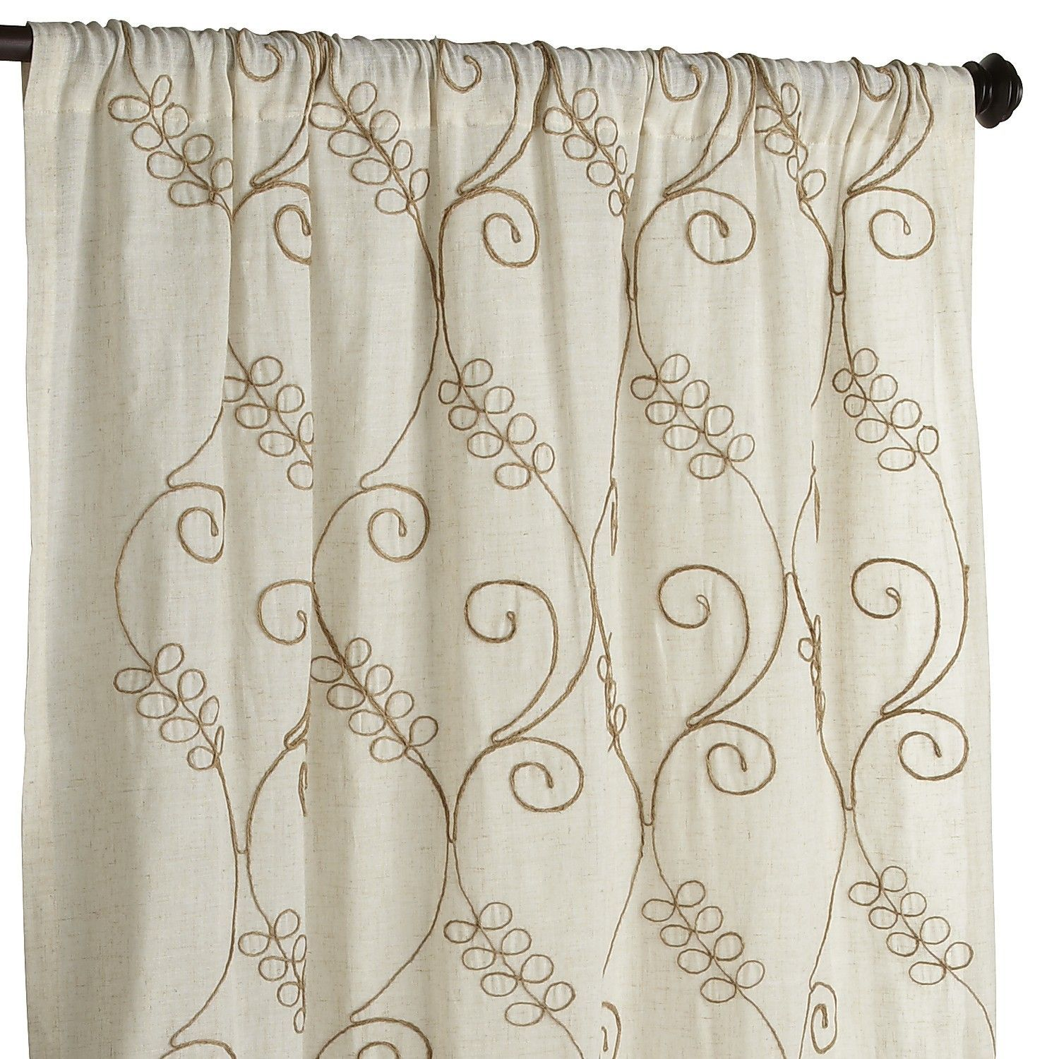 Embroidered Jute Curtain Pier 1 Imports I Call It Home