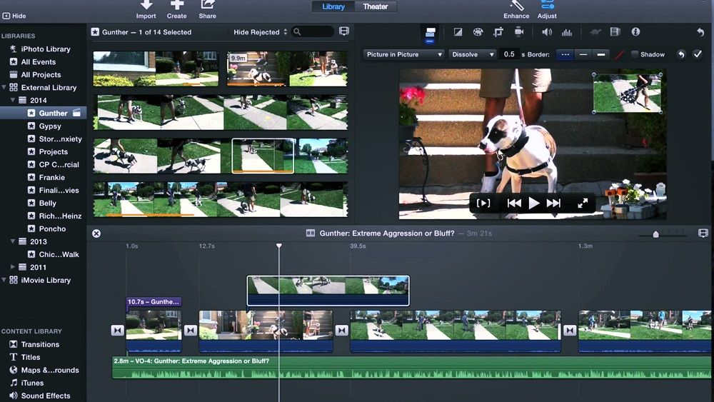 iMovie for Windows 10 Free Download Library pictures