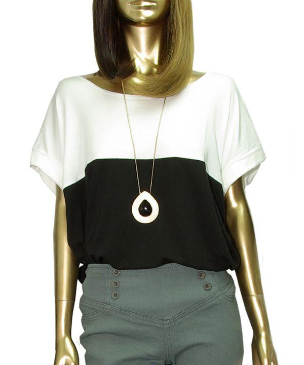 【2013新作】バイカラーTシャツ  #シータ・ミュー