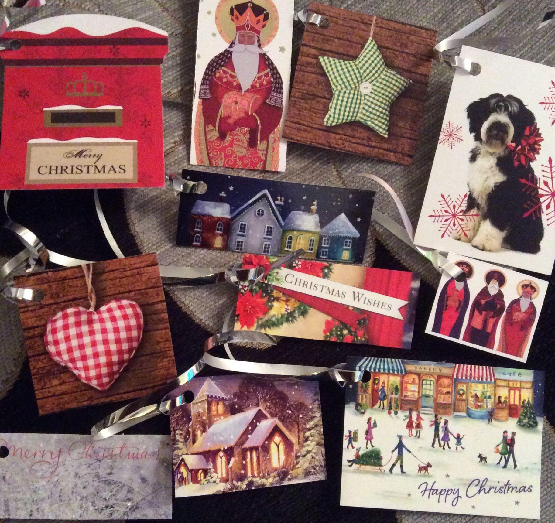 Luxury christmas gift tags