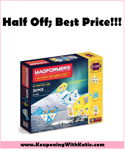 $50 Magformers My First Ice World Set, Half Off Right Now!!! | KouponingWithKatie