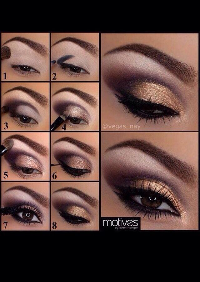 Beautiful Gold Eye Makeup