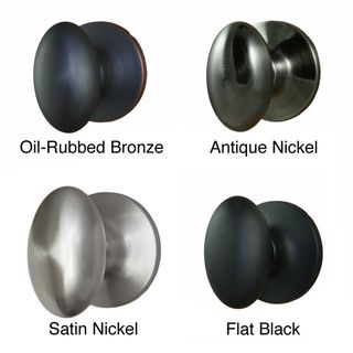 Overstock - Egg Shaped Privacy Door Knob Pair (Set of 2) - Finish ...