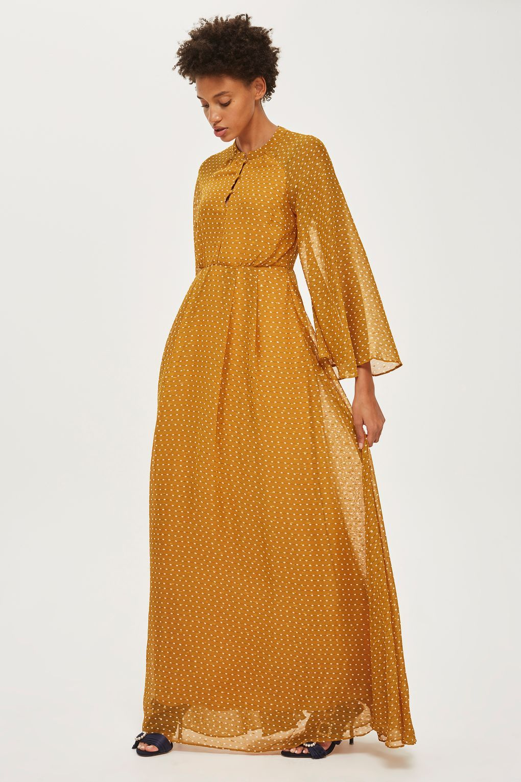 Long sleeve maxi dress by yas long sleeve maxi maxi dresses and