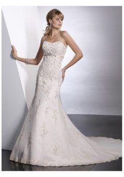 schöne trägerlose Brautkleider