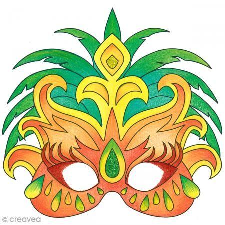 Coloriage Carnaval Bresilien.Mascara Para Colorear Y Recortar Carnaval De Rio De