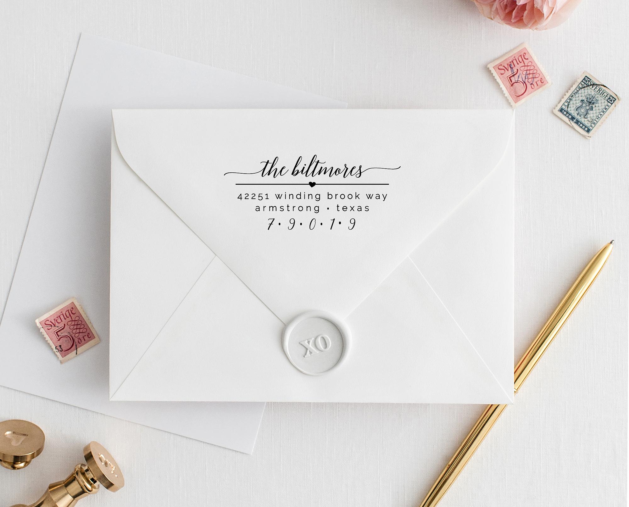 Custom Address Stamp Address Stamp No Wedding Stationery Stamper 23 Wooden Rubber Stamp Return Address Stamp Personalized Stamp
