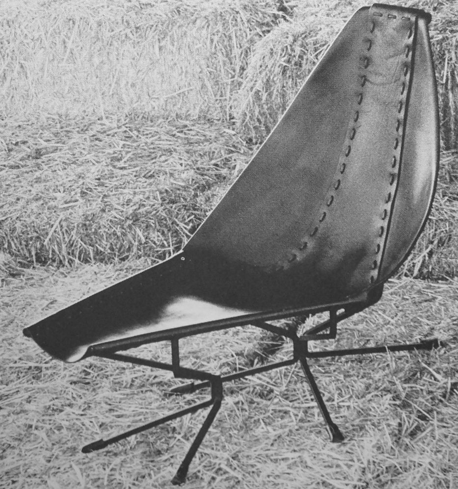 Designer Sling Chairs: Leather Sling Chair By Dan Wenger