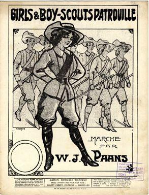 Girls et Boy-scouts Patrouille, 1913 (ill.: H. A. Dupuis); ref. 1204