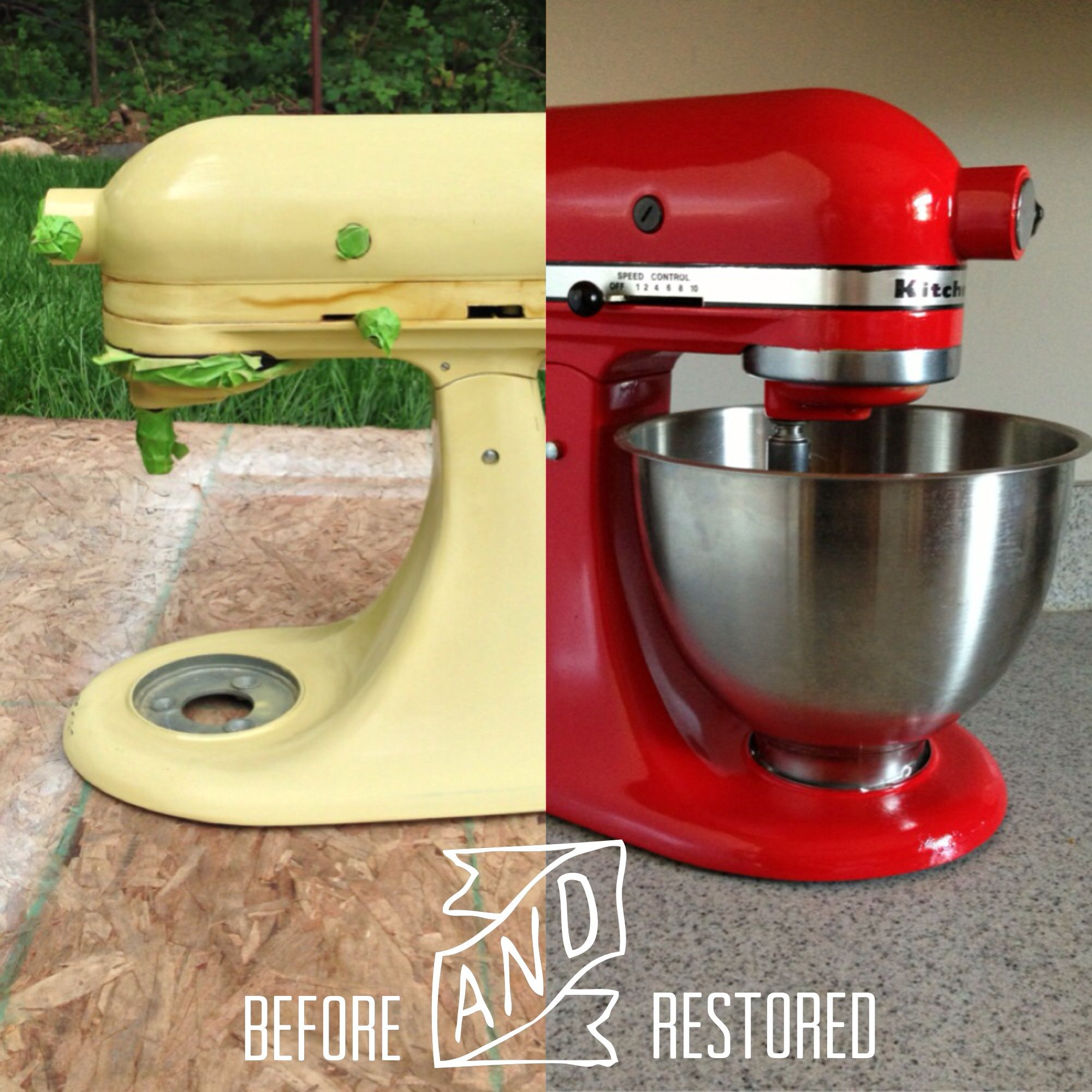 Vintage KitchenAid mixer - restored. KItchenaid makeover. Do it ...