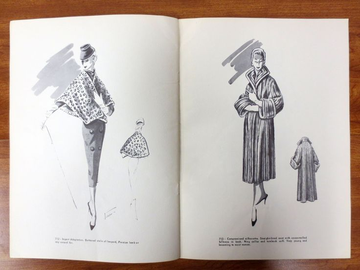 Vintage 1955 Fur Revue Magazine Design Guild by John Casella New York MidCentury Fur Coat  Vintage 1955 Fur Revue Magazine Design Guild by John Casella New York MidCentur...
