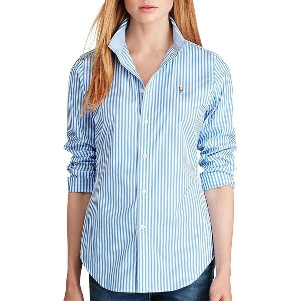 3eb566fb1 Polo Ralph Lauren Women's Kendal Button-Down Shirt ($99) ❤ liked on Polyvore