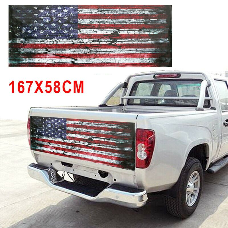 Sponsored Ebay Novel Design Truck Sticker Graphic Decal 167 58cm Decor Popular High Quality Truck Stickers Tailgate Wraps American Flag Sticker