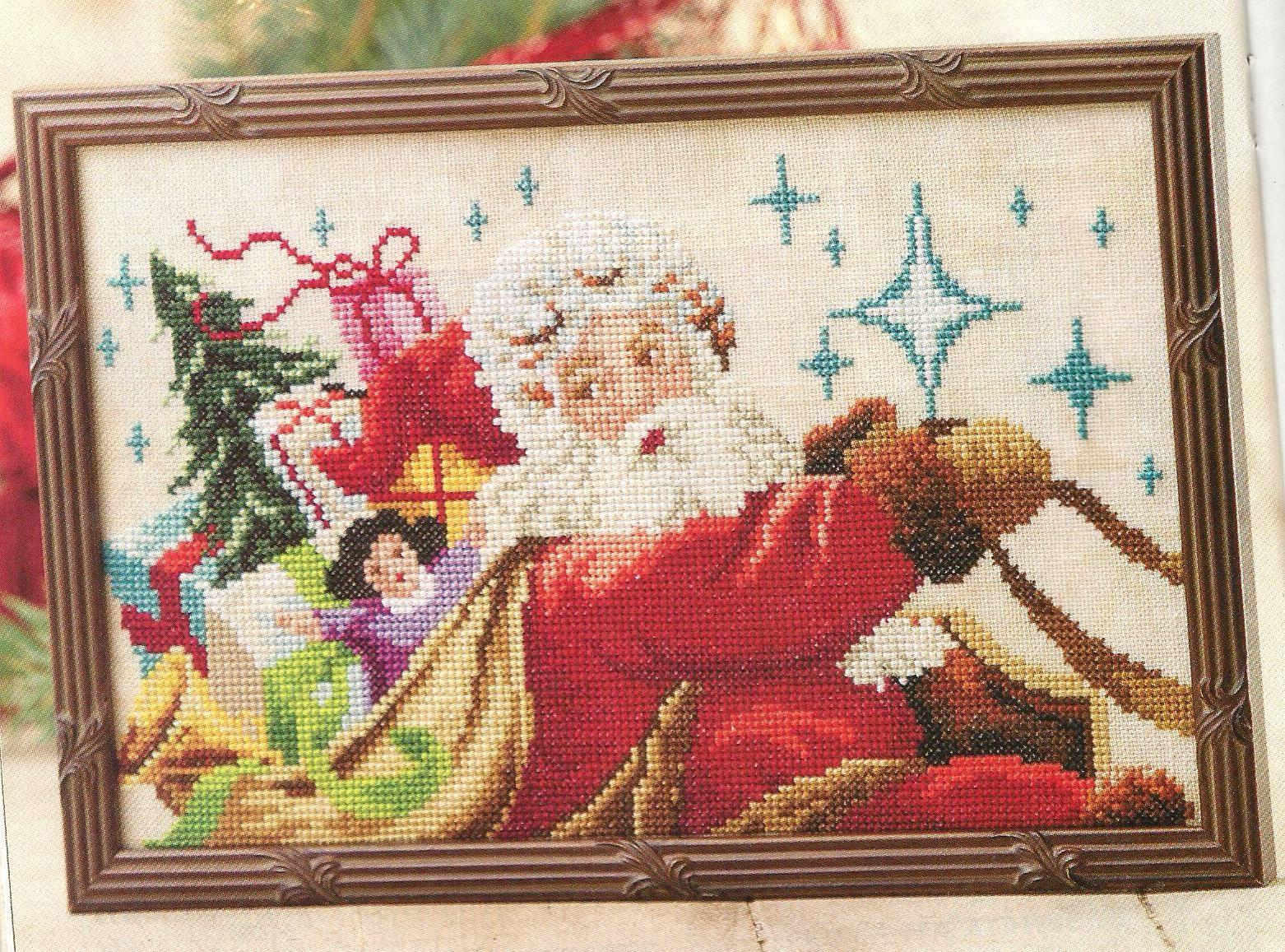Santa's Sleigh Ride - Marie Barber (designer) - stitch count 139w x 83h