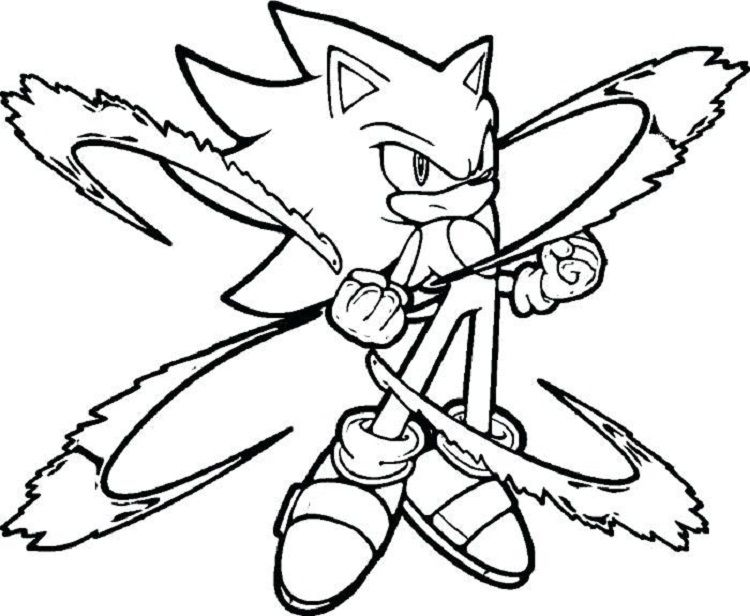 Sonic Coloring Pages Online Coloring Pages For Kids In 2019