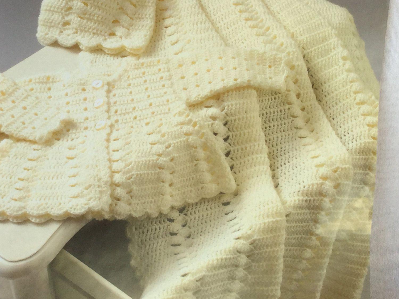 UK/EU SELLER pdf Crochet instructions for coat, shawl & hat ...