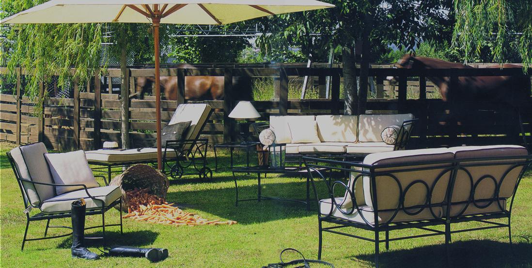 Muebles Para Jardín Modelo Seneca Camastro en hierro forjado con ...