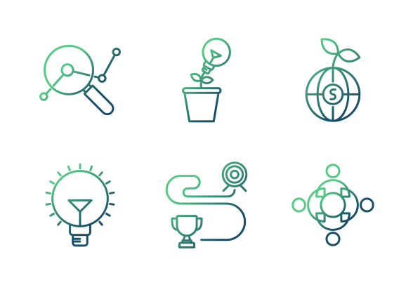 Strategy Icons By Cuby Design Design Strategies Icon