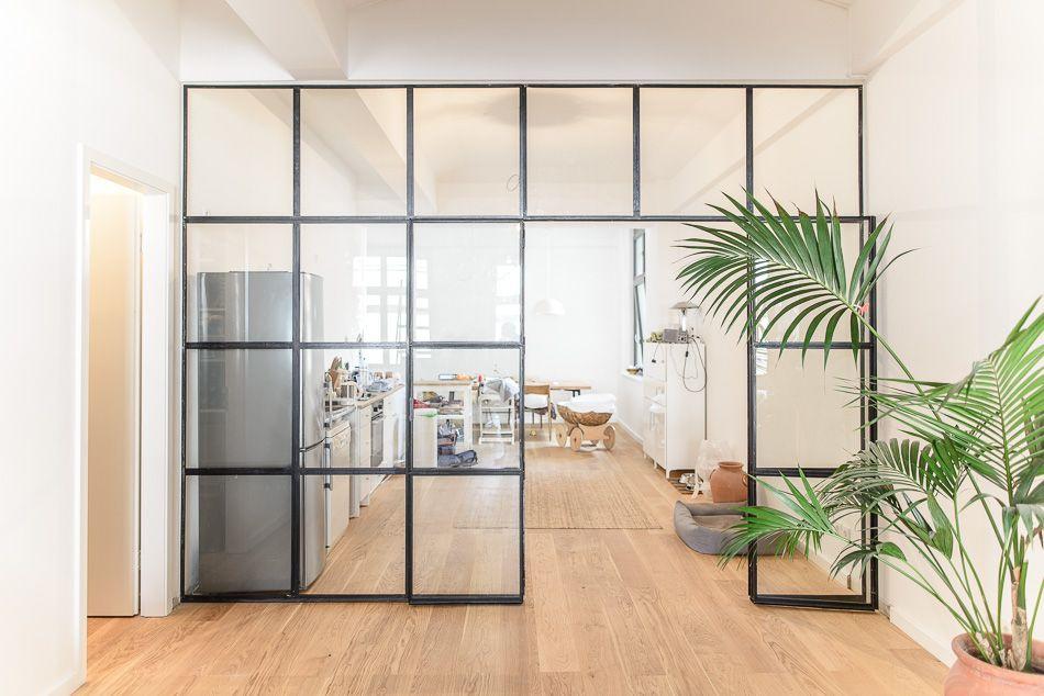 Stahl Glas Trennwand, Raumteiler, Trennwand aus ...