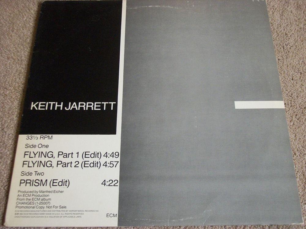 Keith Jarrett Flying Part 1 2 Prism Promo 12 Vinyl Single Ecm Pro A 2186 Keithjarrett Jazz Music Record Vinyl Records Vinyl Records