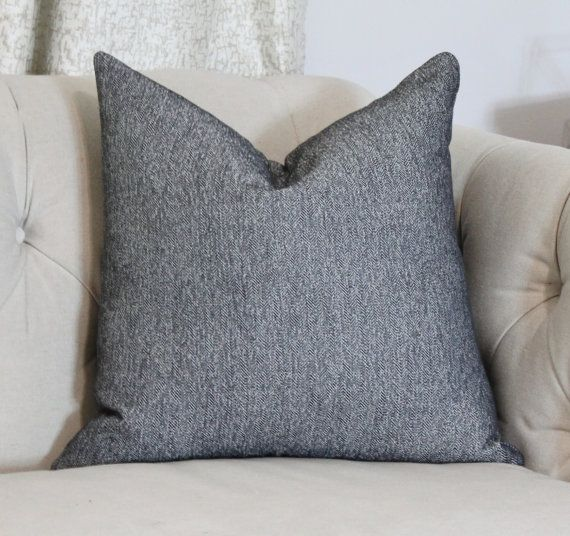 1565c3743a Black and White Herringbone Pillow Cover - Black Accent Pillow Cover ...