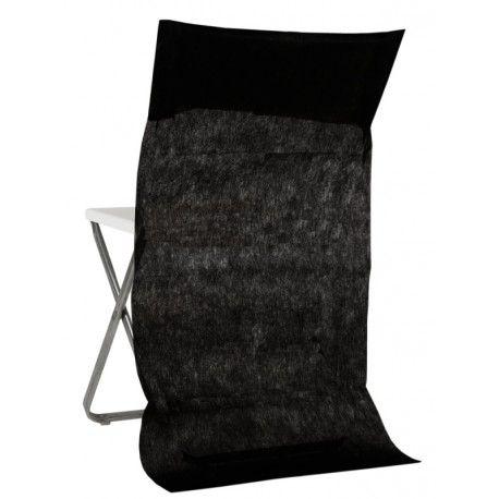 Housses Dossier De Chaise Intisse Noir Les 10