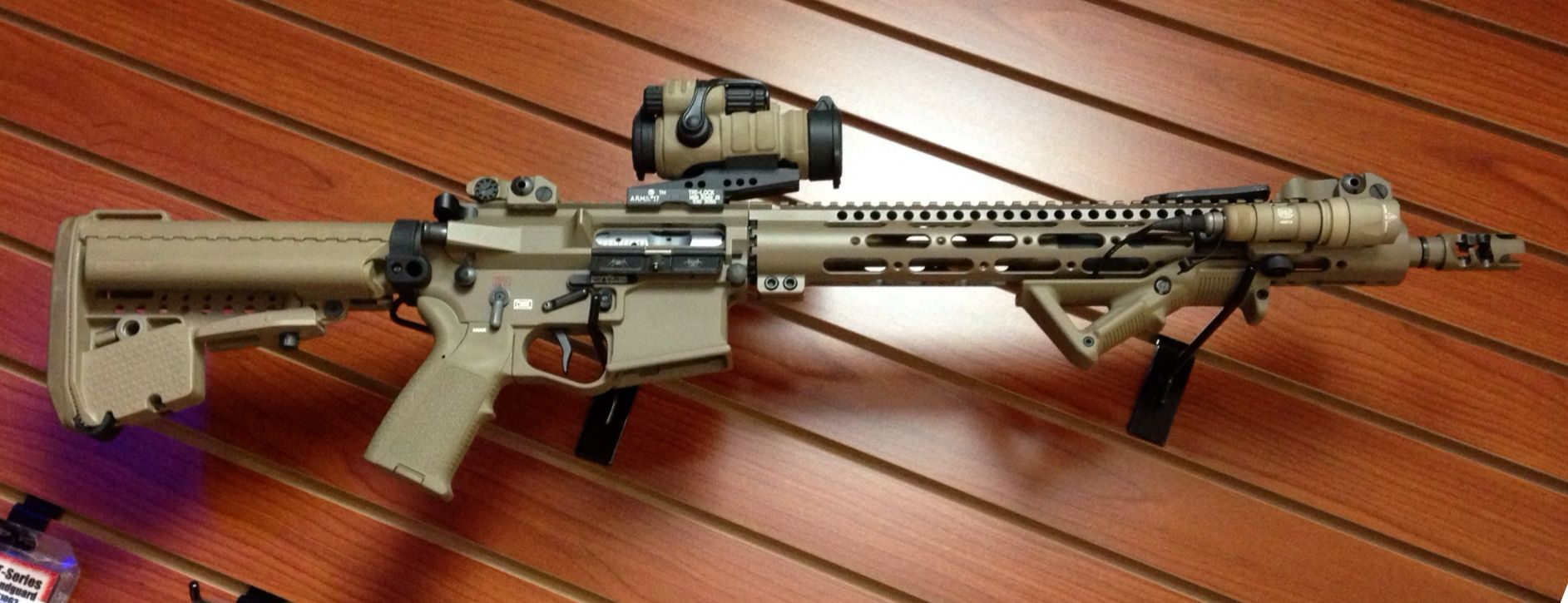 Custom AR15 cerakoted in Magpull FDE | Guns | Guns, Tactical