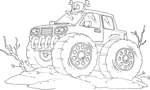 Car Monster Truck Off Road Coloring Page - Off Road Car car coloring ...