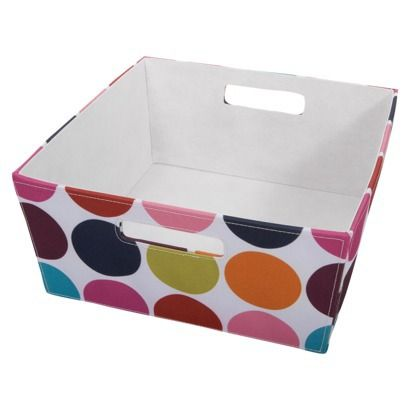 Itso Medium Fabric Bin Polka Dot Target Need A Few Of