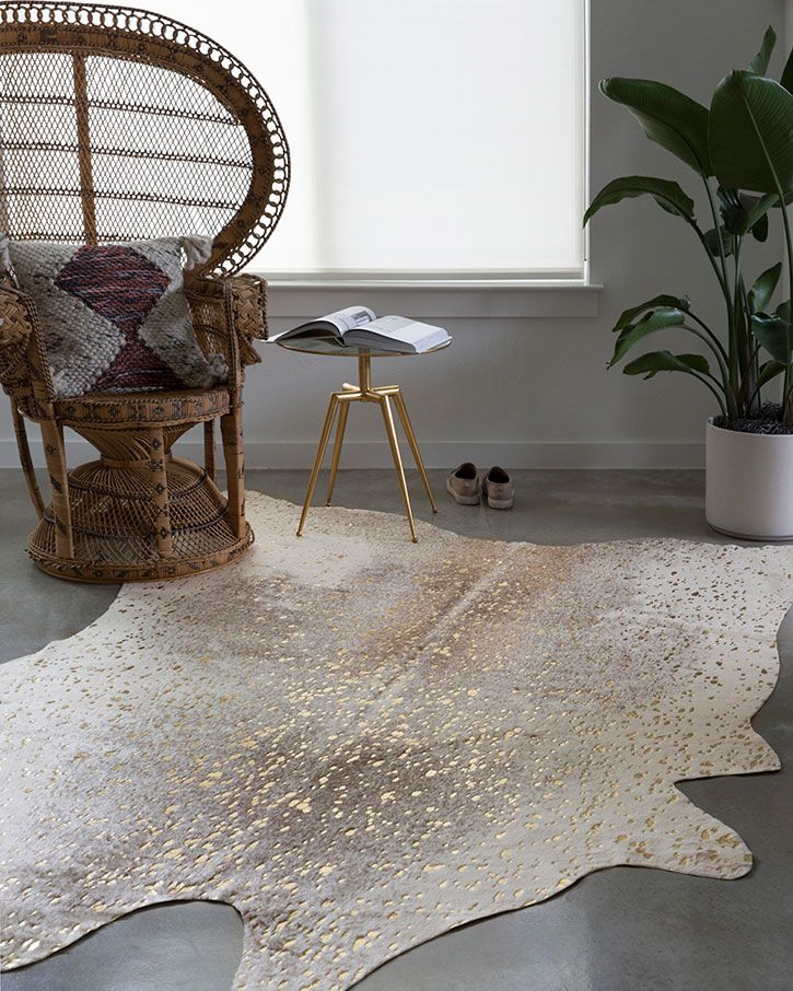 Loloi Ii Bryce Bz 07 Pewter Gold Area Rug Faux Cowhide Area Rug Faux Cowhide Rug Faux Cowhide