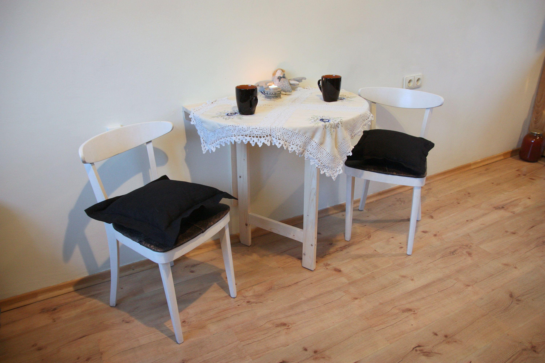 Small Light Wall Folding Table Pine Furniture Wall Mounted Drop