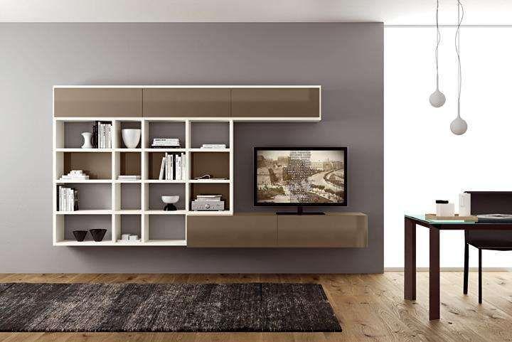 Arredare il soggiorno con il color tortora - Parete e mobile ...