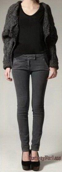 New $895 ALEXANDER MCQUEEN 44 8 Mainline Back Seam Grey Skinny Jeans Denim #AlexanderMcQueen #SlimSkinny