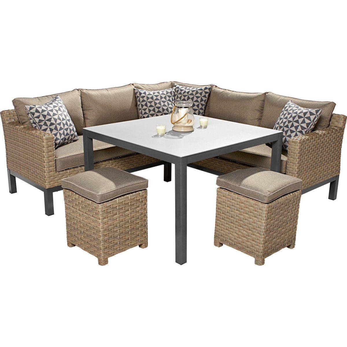 OBI Lounge-Gruppe Brogan 5-teilig Ash mit quadratischem Tisch Jetzt ...