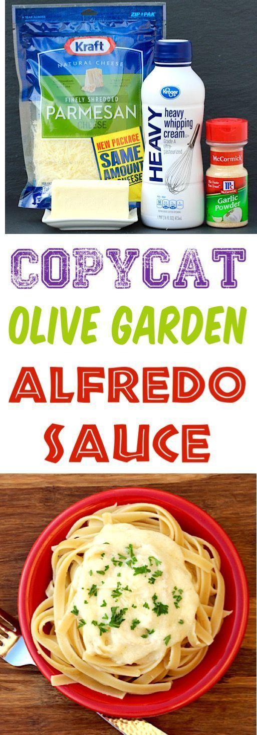 Olive Garden Alfredo Sauce Rezept Einfache Nachahmerrezepte! Sie werden nicht gl... - Rezepte - #Alf...