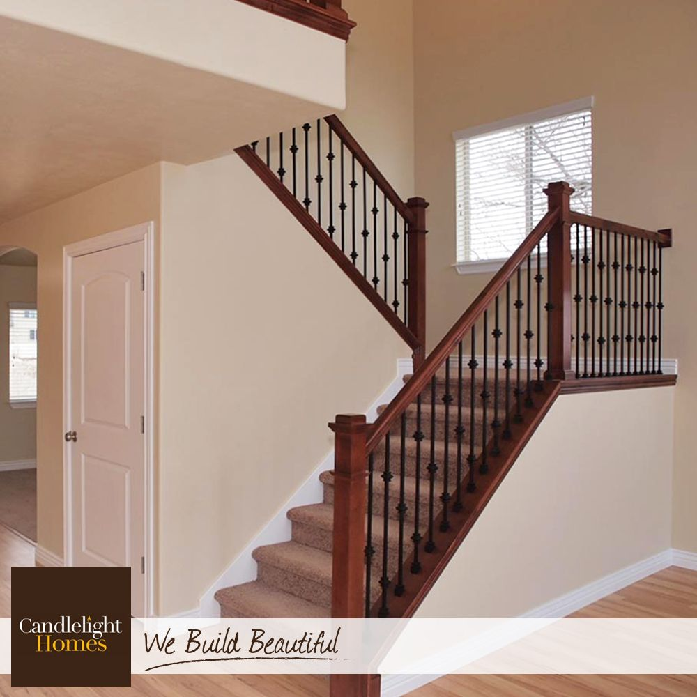 Best Wrought Iron Spindles And A Dark Oak Railing Add Beautiful 400 x 300