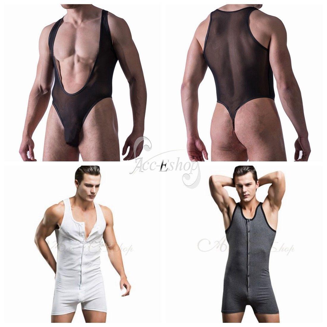 d271214a8c  3.75 - Mens Leotard Thong Underwear Sheer Mesh Bodysuit Jumpsuit Swimsuit  Lingerie Vest  ebay  Fashion