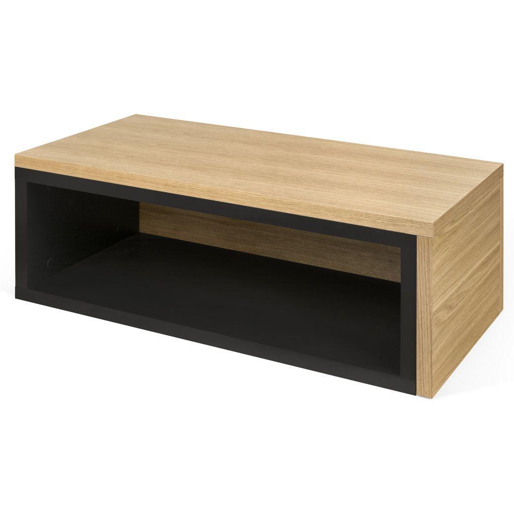 Temahome Jazz Coffee Table Pure Black Oak Living Room Essentials Table Innovation Design